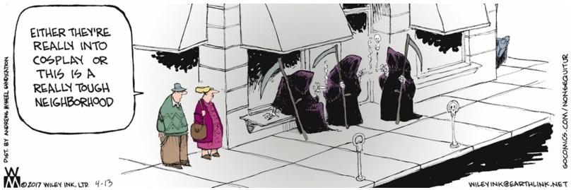 Non Sequitur Smoking Grim Reapers