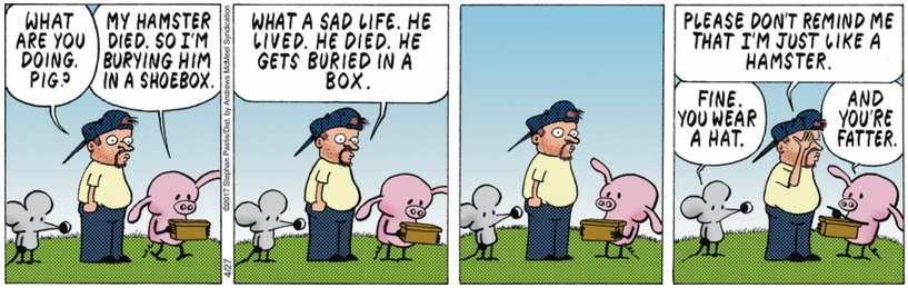 Pearls Before Swine Hamster Burial
