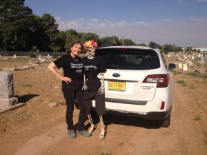 Gail and Lola in Fairview Cemetery