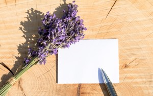 Pen Card Flowers