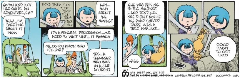 Non Sequitur Texting Driving