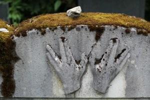 Jewish Headstone with rock