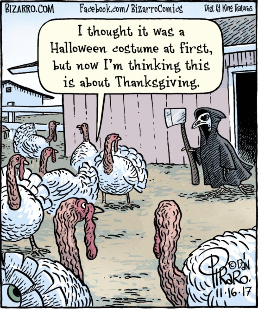 Bizarro Thanksgiving Grim Reaper