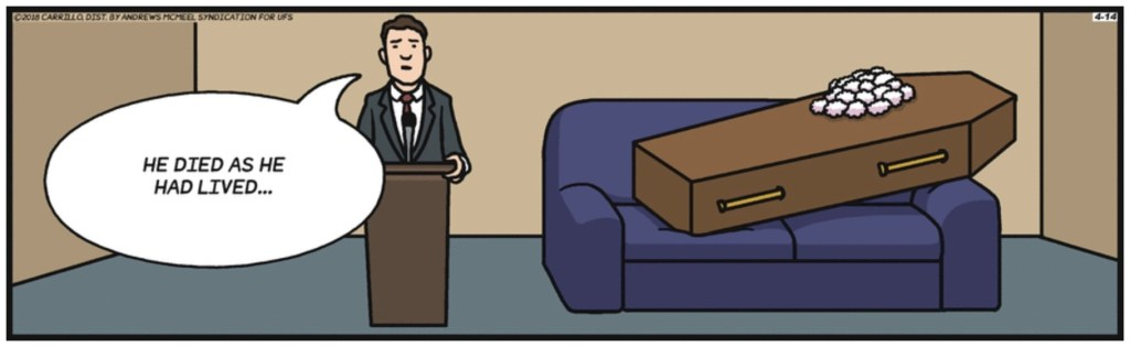F Minus Couch Potato Coffin