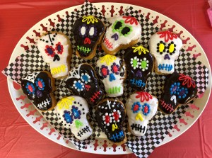 Sugar Skull Donuts Tray