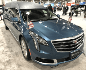 Cadillac Hearse at 2018 NFDA