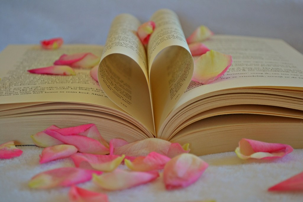 Heart Book Flowers