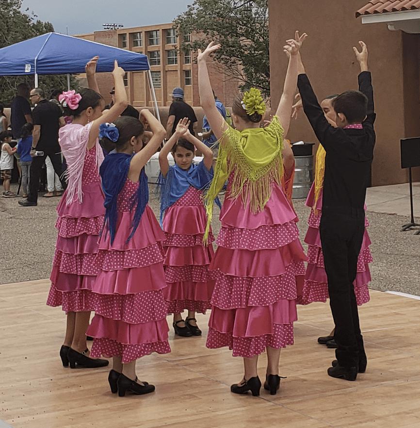 Dancing by Los Ninos de Santa Fe