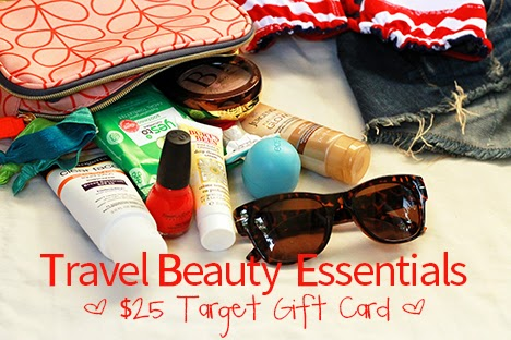 Vacation Travel Beauty Essentials + $25 Target Gift Card Giveaway