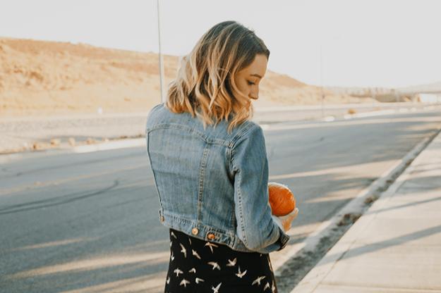 Fall Style: Printed midi dress + booties