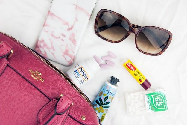 Handbag essentials for positivity with Pamprin | A Good Hue