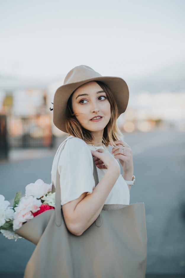 Spring Ready: Zara Side Knot Top & Cuyana Monogram Tote| A Good Hue