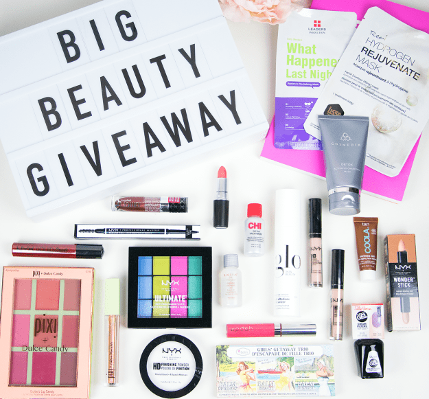 Enter to win the Big Beauty Giveaway from A Good Hue blog