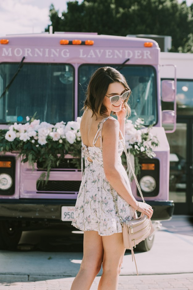 Teeny Tiny White Floral Dress Outfit | A Good Hue
