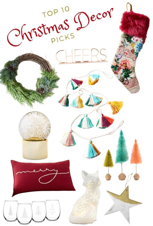 Top 10 Christmas Decor Picks | A Good Hue