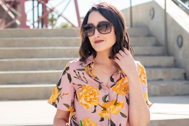 Outfit: Floral Flutter Sleeve Blouse   A Good Hue