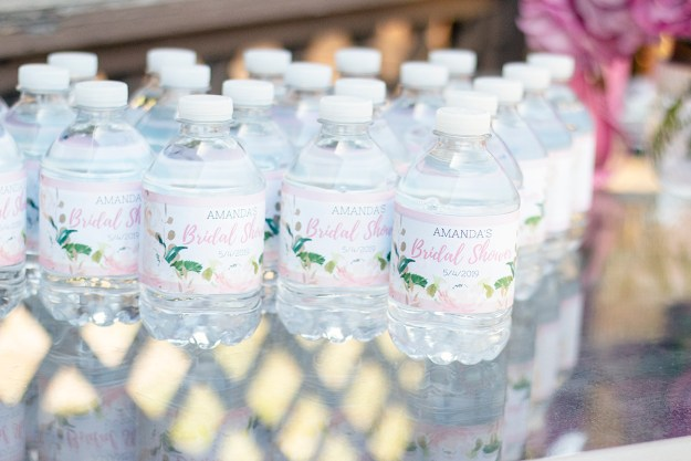 Rosé and Bubbly Bridal Shower- Custom Water Bottle Labels | A Good Hue