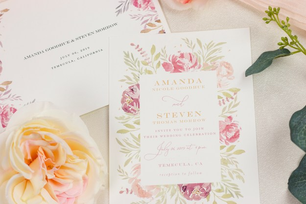 Our Wedding Invitations from Minted | A Good Hue