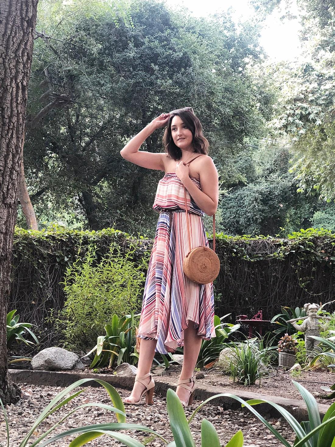 Casual Striped Summer Dress   A Good Hue