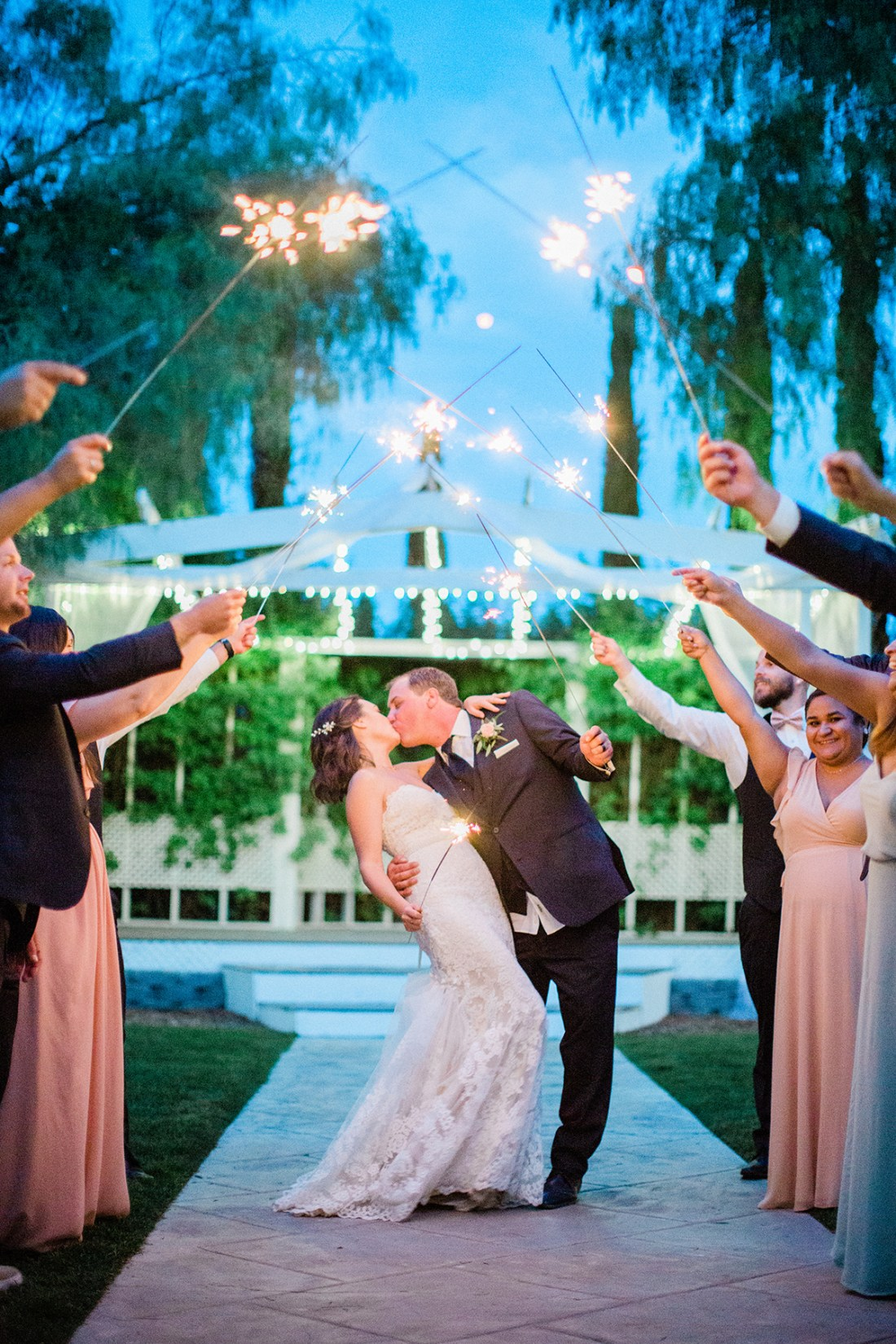 Wedding Grand Exit with Sparklers | A Good Hue
