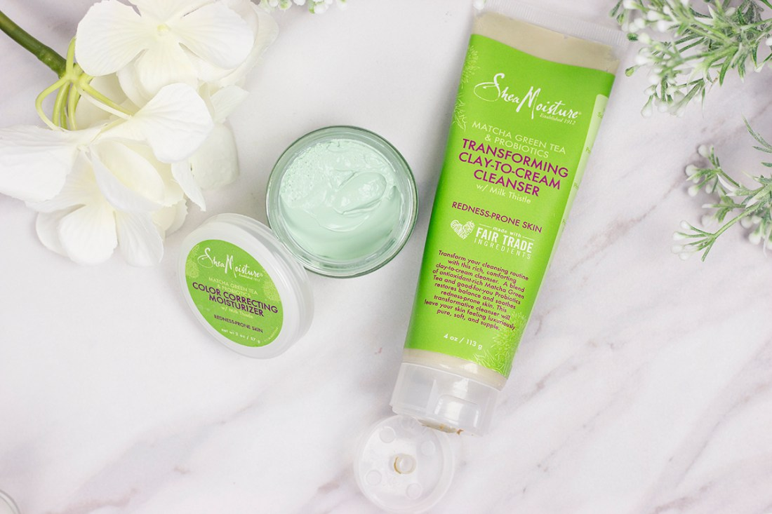 Matcha Love: Shea Moisture Matcha Moisturizer and Clay-to-Cream Cleanser | A Good Hue