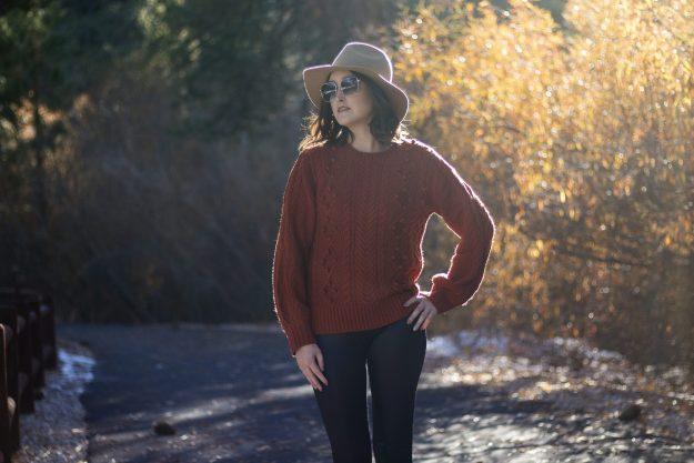 JustFab Pom Pom Sweater   A Good Hue