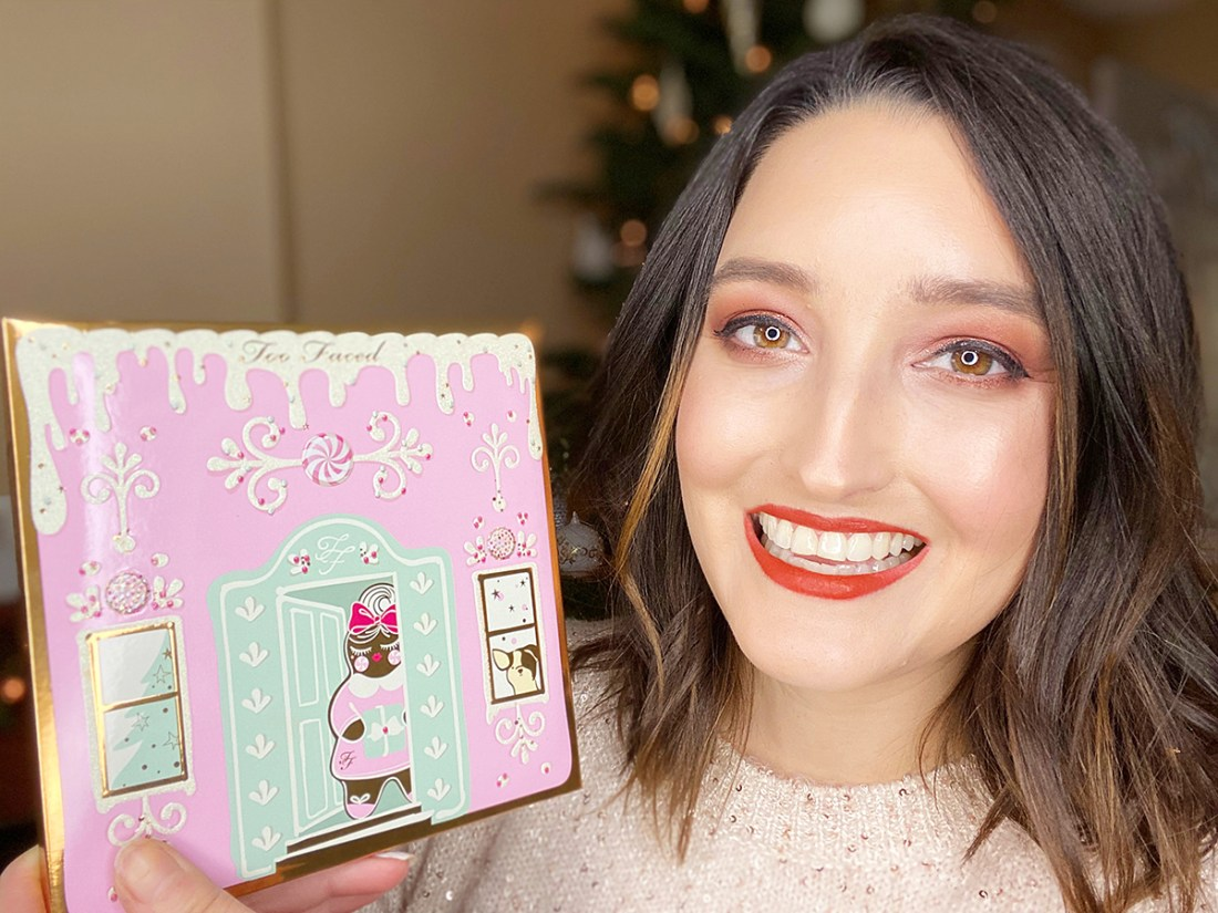 Too Faced Christmas Cookie House Party Holiday Makeup | A Good Hue