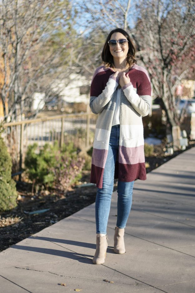 Affordable Winter Outfit: Kohl's Color Block Sweater