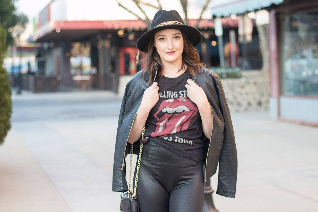Concert Outfit with Graphic Tee & Leggings | A Good Hue