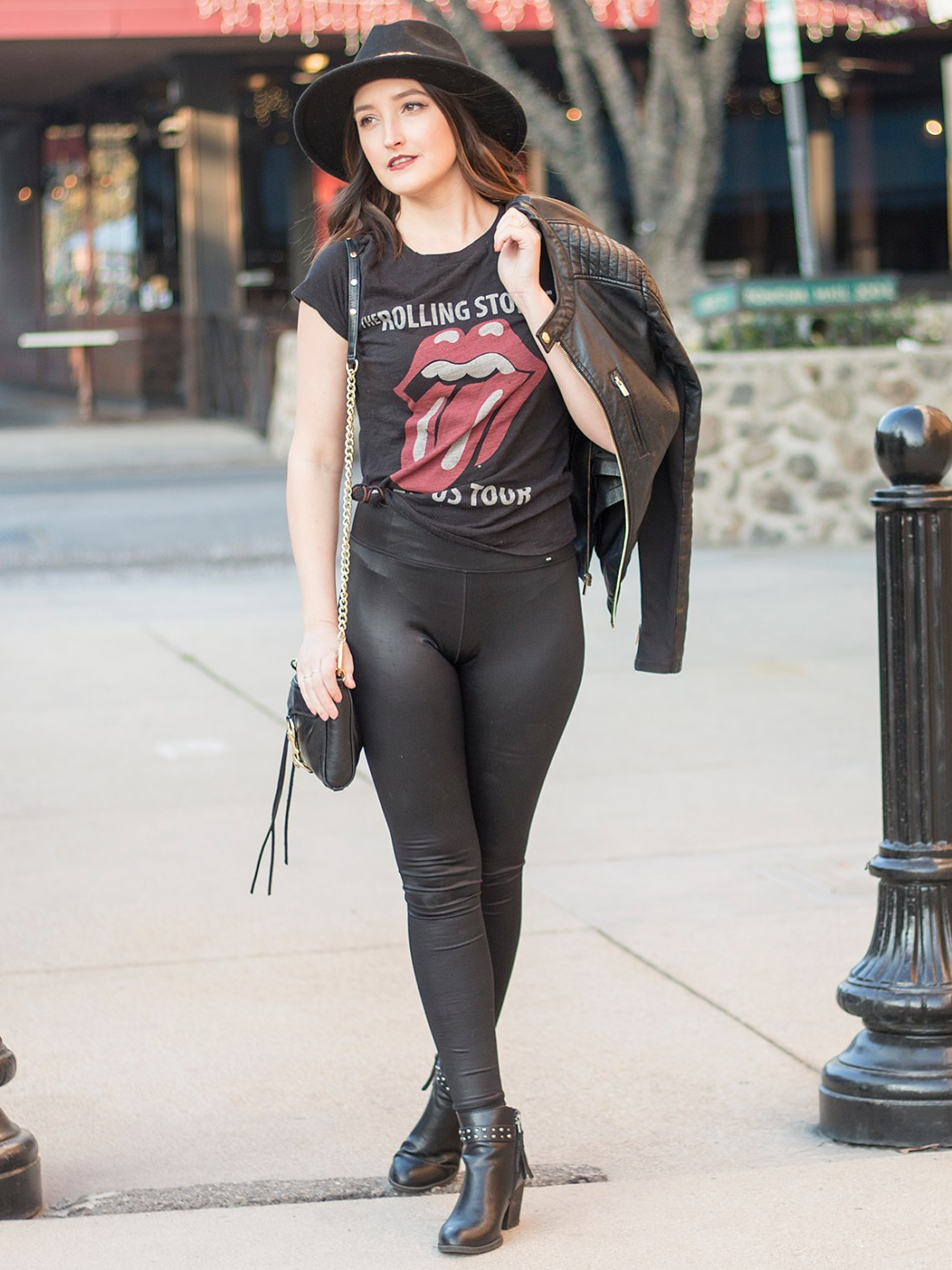 Rolling Stones Graphic Tee Outfit | A Good Hue