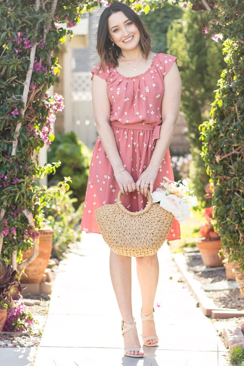 Spring Style: Dusty Pink Floral Dress