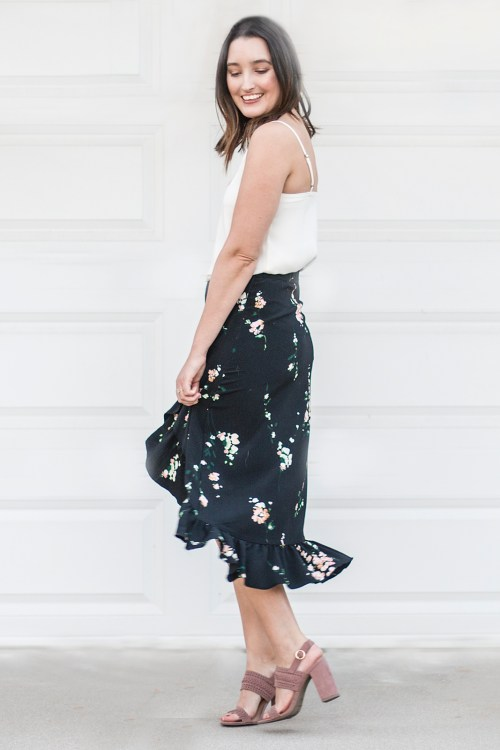 Summer Style: Floral Midi Skirt