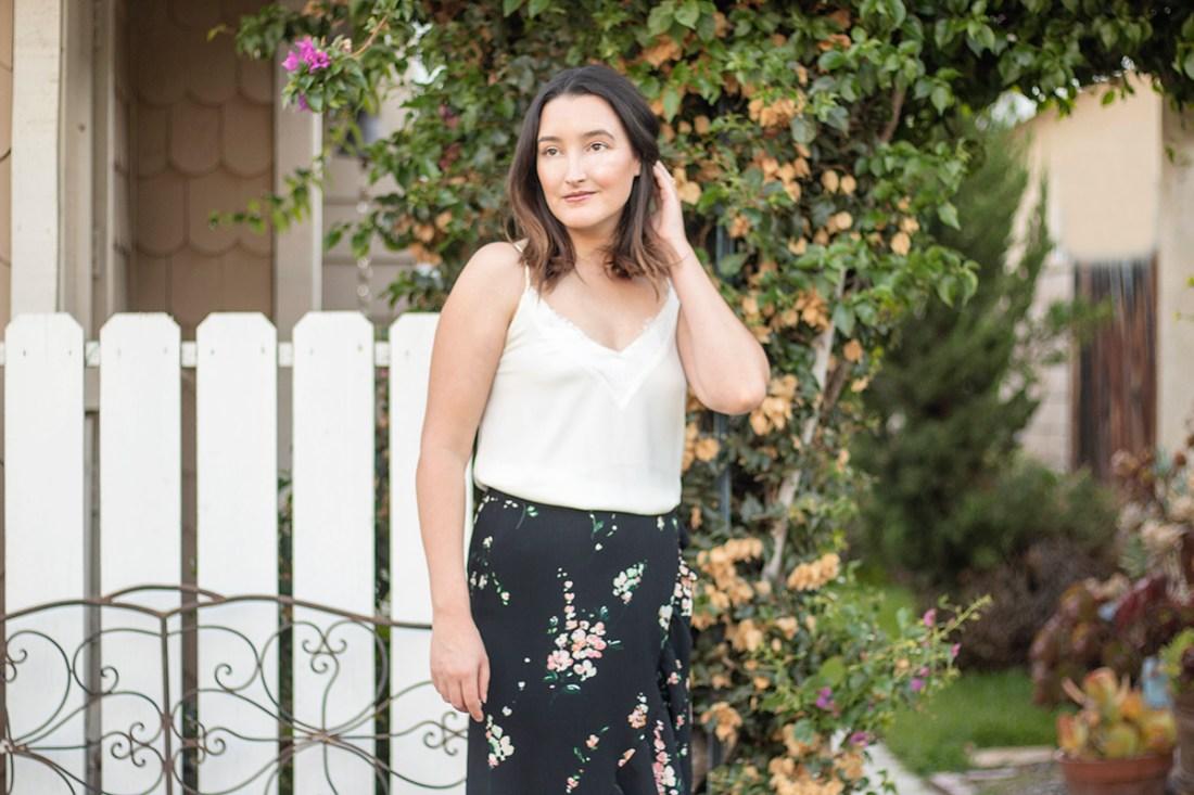 Summer Style: Floral Midi Skirt | A Good Hue