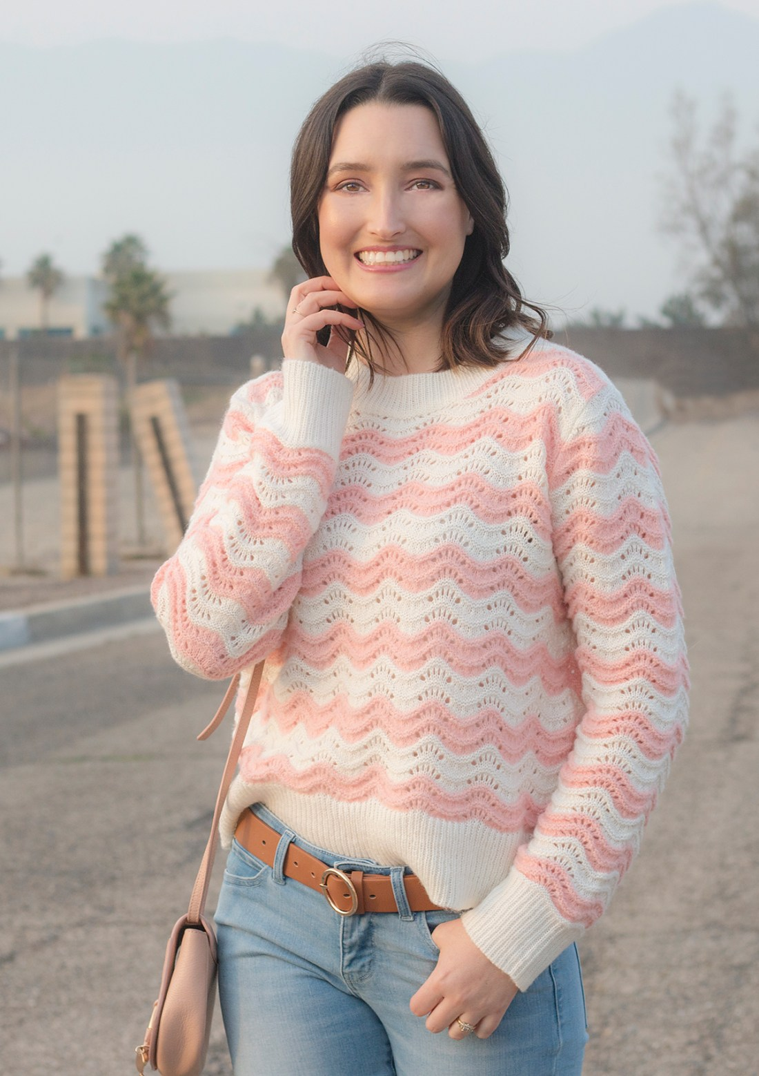 JustFab Textured Knit Sweater | A Good Hue