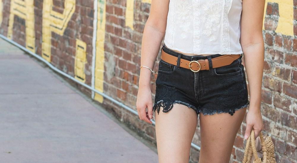 Summer Style: Black Denim Shorts