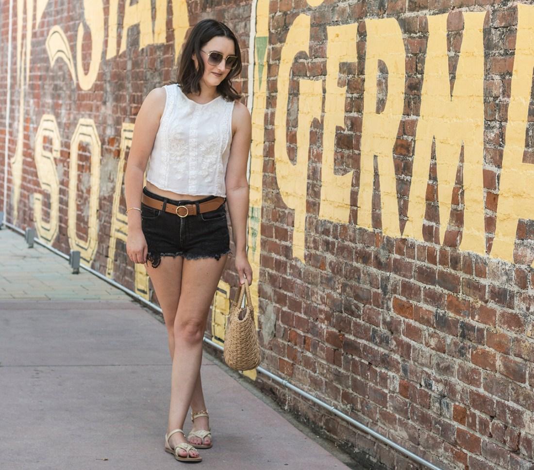 Summer Style: Black Denim Shorts | A Good Hue