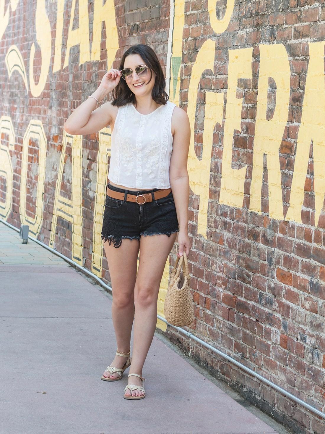 Black Denim Shorts for Summer | A Good Hue