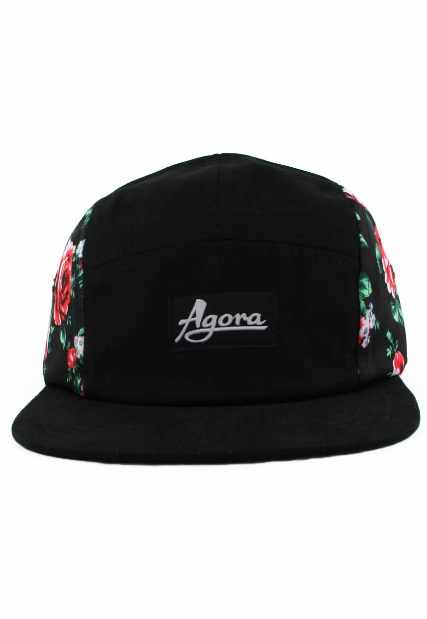 Rose 5 Panel Camp Cap Hat