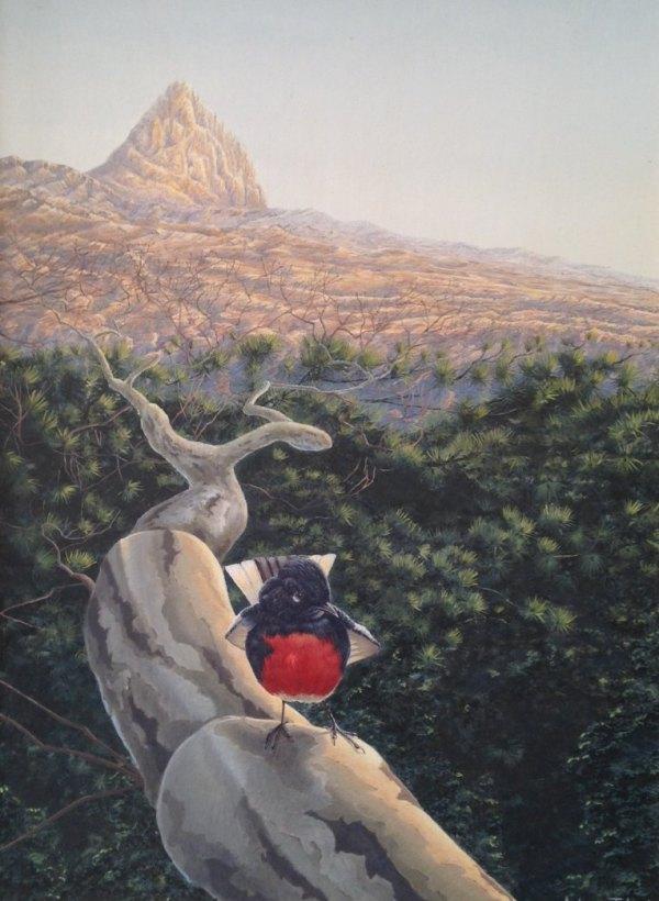 """Sunrise at Santa Rita"" 2008 acrylic on masonite 20 x 16 inches"