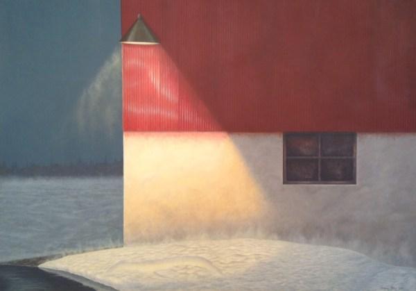 """March Thaw"" 2014, acrylic on masonite, 35 x 48.5 inches"