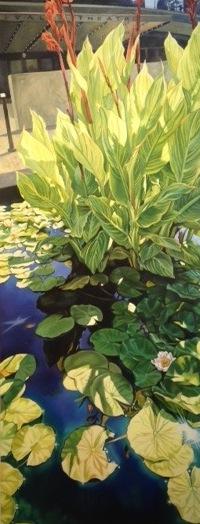 "Renata Fitzgerald, ""Sun & Shade"" 2010, acrylic on canvas, 60 x 24 inches"
