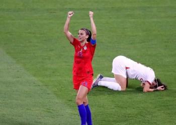 Jogadora dos Estudos Unidos vibra com a classificação. Foto:Getty Images