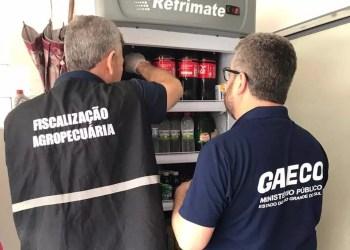 Agentes da Força-Tarefa do Programa Segurança Alimentar realizaram operação em São Martinho da Serra. Foto: Divulgação/MPRS