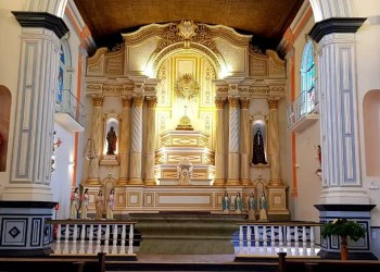 Construída em estilo eclético, em 1846, a Igreja Matriz é um dos marcos no núcleo formador de Jaguarão. Foto: Divulgação