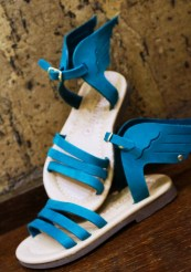 Handmade leather sandals for kids with anatomic soles..Αvailable in various colors.  by So What! | Leather Accessories