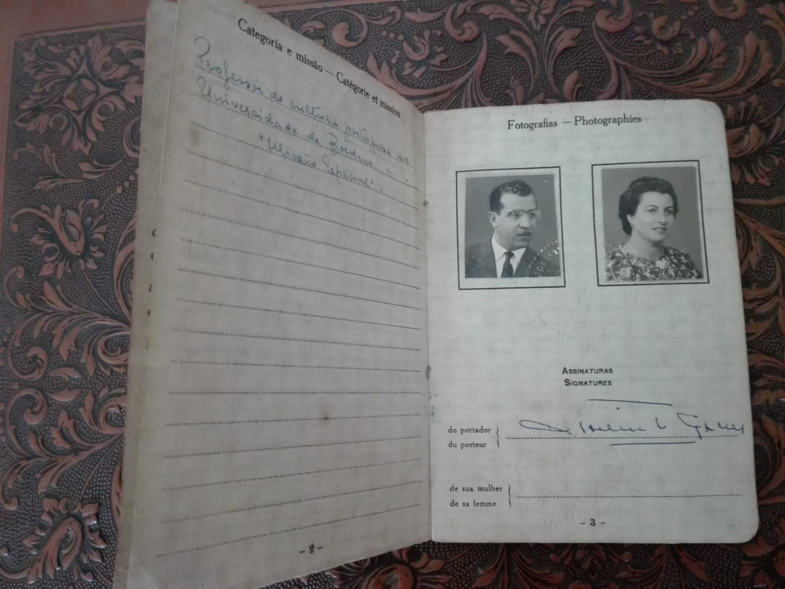 Passaporte especial Agostinho Gomes