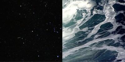 Stars over Atlantic Ocean