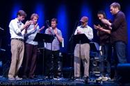 """""""Clapping Music"""" with Steve Reich, David Cossin, and friends at the 2012 Bang on a Can Summer Festival"""