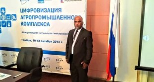 Teaching at our college at the University of Kufa participates in a scientific conference in the Russian Federation