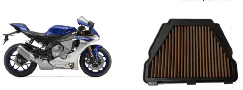 Yamaha YZF R1 2015 e Sprint Filter Filtro de Ar